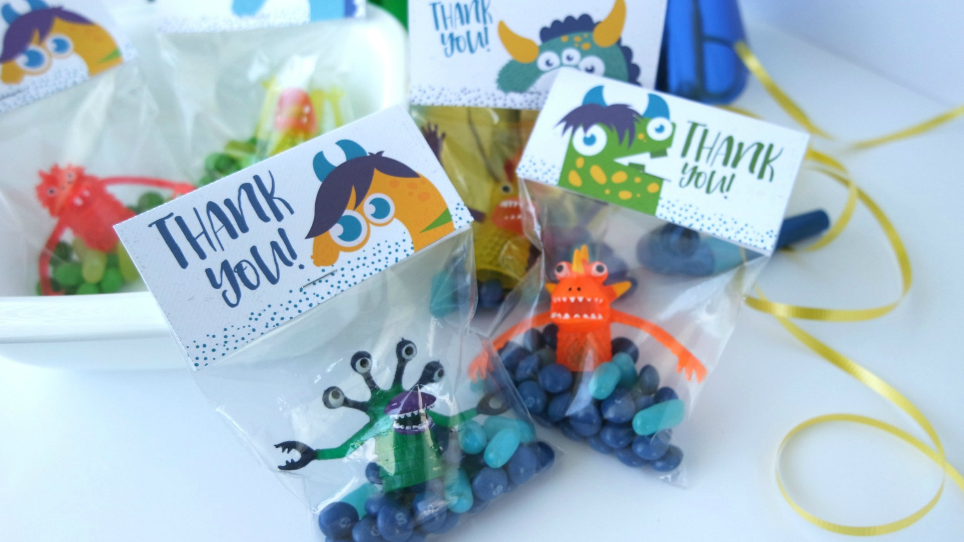 Adorable Monster Party Favors Printable - Free Download