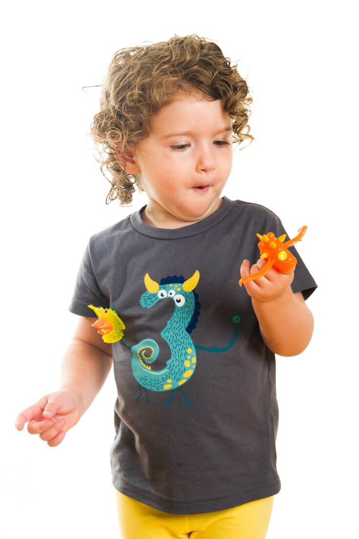 The Coolest Monster 3rd Birthday Shirt There Ever Was Detachable Finger Puppets Snap On And
