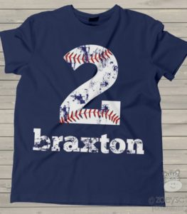 Baseball Second Birthday Shirt