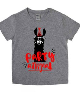 Llama Party Animal Birthday Shirt