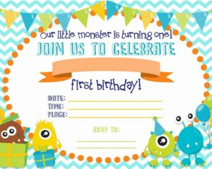 5 Free Monster Birthday Party Invitations Fun Cute For Your Next Bash