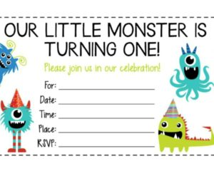 5 Free Monster Birthday Party Invitations
