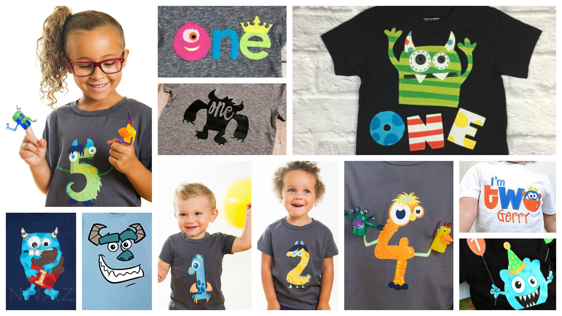 15 Adorable Monster Birthday Shirts For Ages 1-5