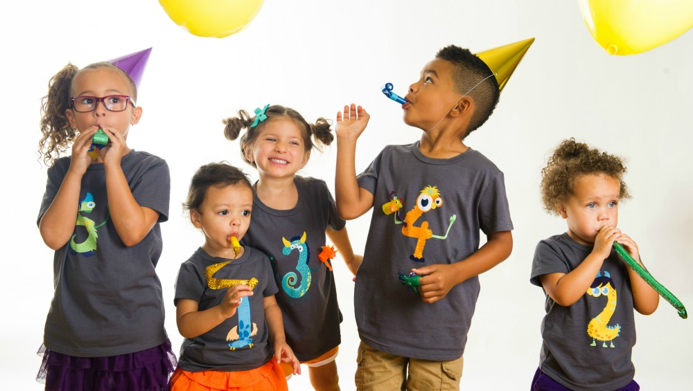 Yippitee birthday shirts are soft, fitted, perfect year-round, and with their detachable finger puppets, they are just plain fun!