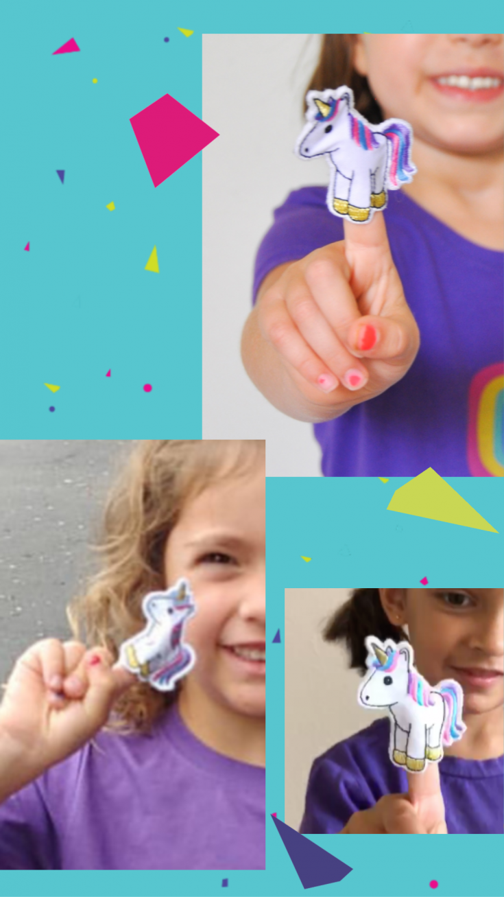 This adorable unicorn t-shirt has a detachable unicorn finger puppet! Available in youth through adult sizes for unicorn lovers of any age! #unicornparty #unicornbirthday #unicornshirt #rainbowunicorn #rainbowbirthday