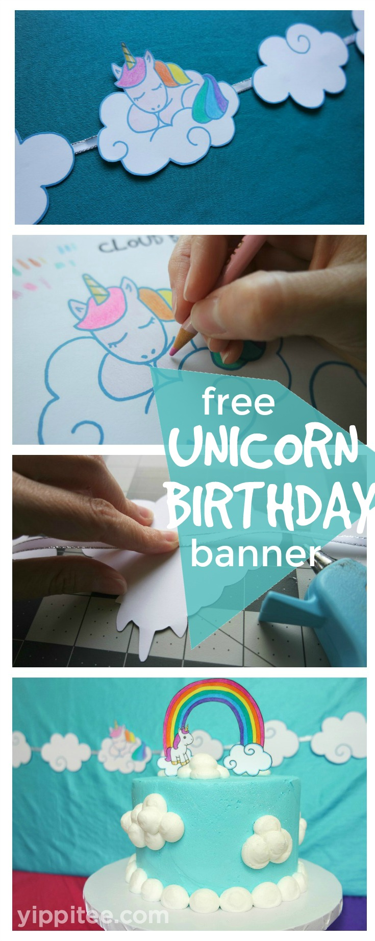 Free Unicorn Birthday Banner Printable | DIY Unicorn ...
