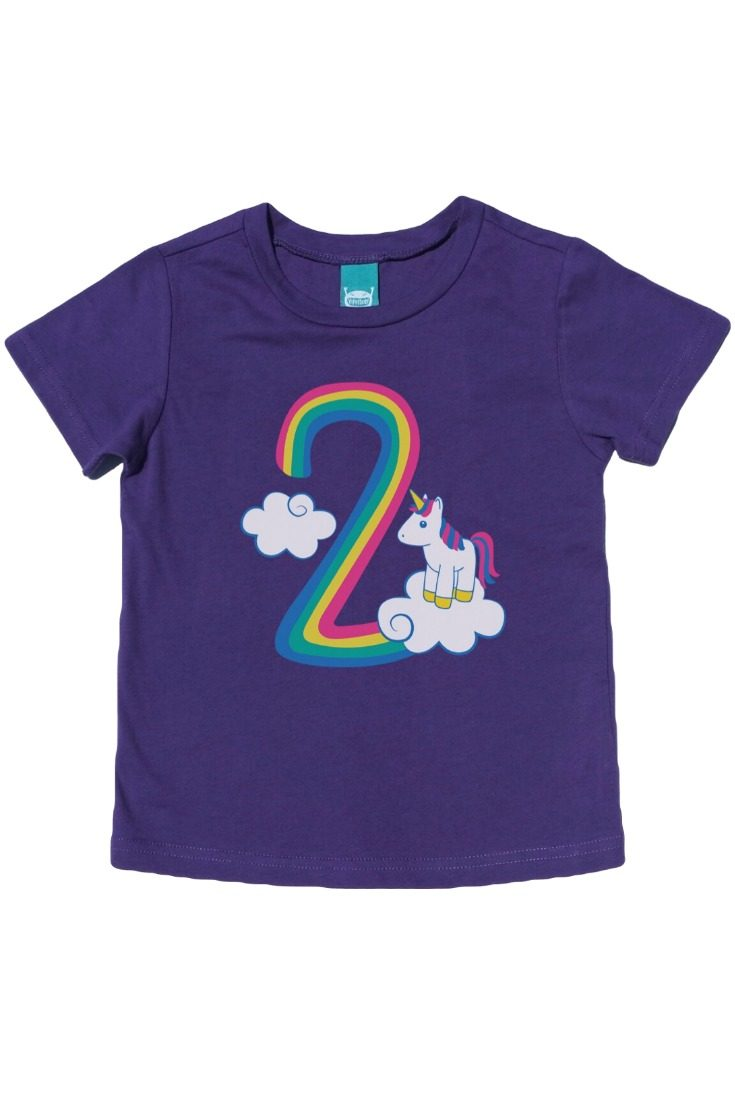 The cutest boys and girls unicorn t-shirt there ever was! Celebrate this big milestone with an adorable unicorn 2nd birthday shirt that your little one can wear all year. Perfect for birthday photos, the big day, and every day after. #unicornparty #unicornbirthday #unicornshirt #rainbowunicorn #rainbowbirthday