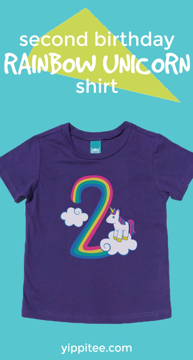 a882757f The cutest girls unicorn t-shirt there ever was! Celebrate this big  milestone with