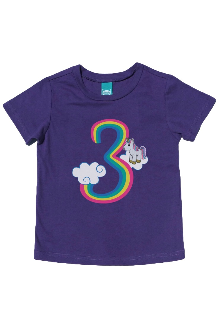 The Cutest Unicorn Birthday Shirt There Ever Was An Embroidered Finger Puppet Snaps On