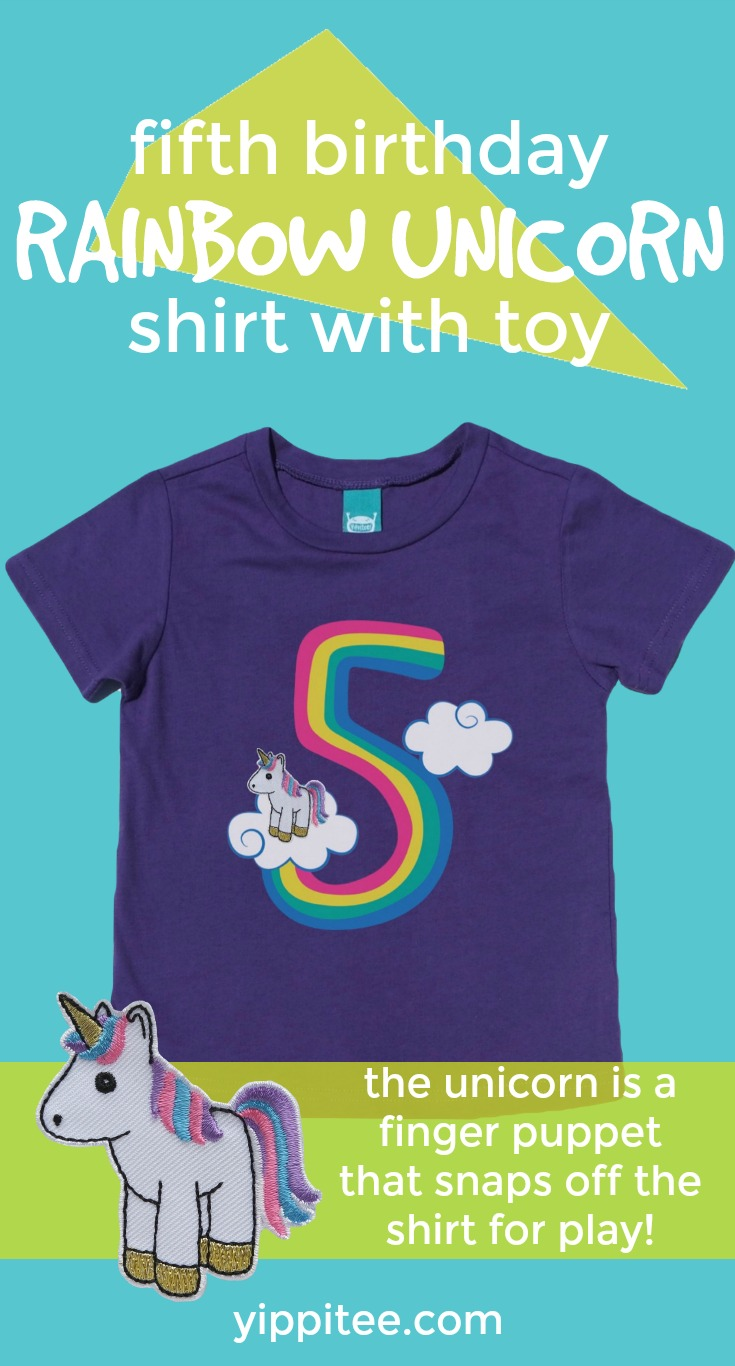Unicorn Birthday T Shirt 5th