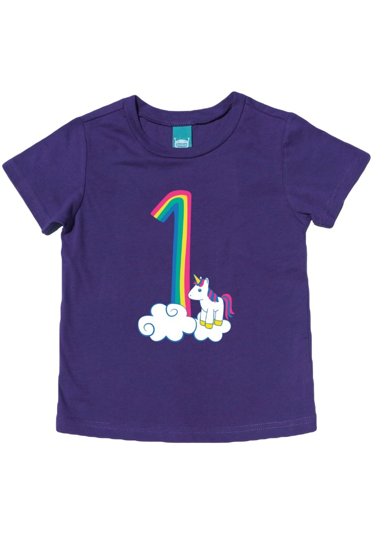 The Cutest Rainbow Unicorn First Birthday Shirt There Ever Was Celebrate This Big Milestone With
