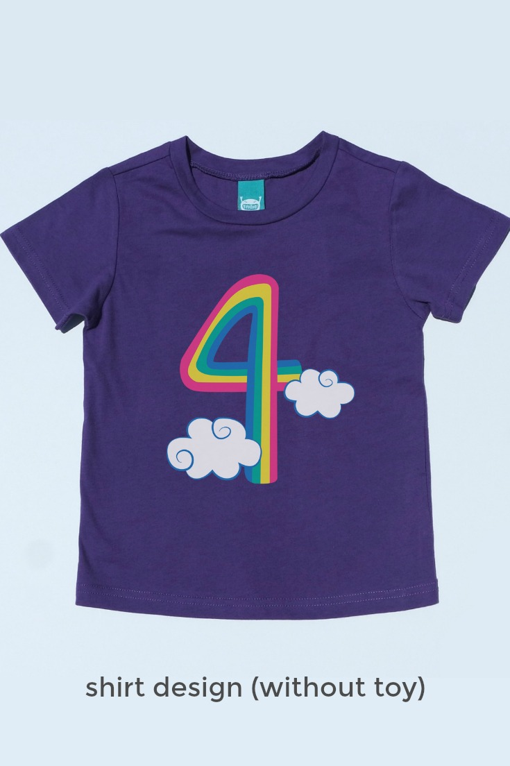 The Cutest Unicorn Tee Shirt There Ever Was An Embroidered Finger Puppet Snaps On