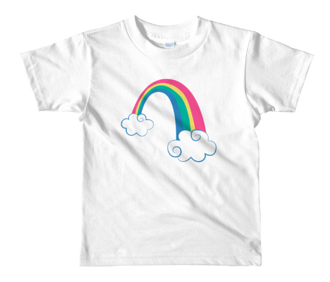 This adorable unicorn birthday t-shirt has a detachable unicorn finger puppet! Available in youth through adult sizes for unicorn lovers of any age! #unicornparty #unicornbirthday #unicornshirt #rainbowunicorn #rainbowbirthday