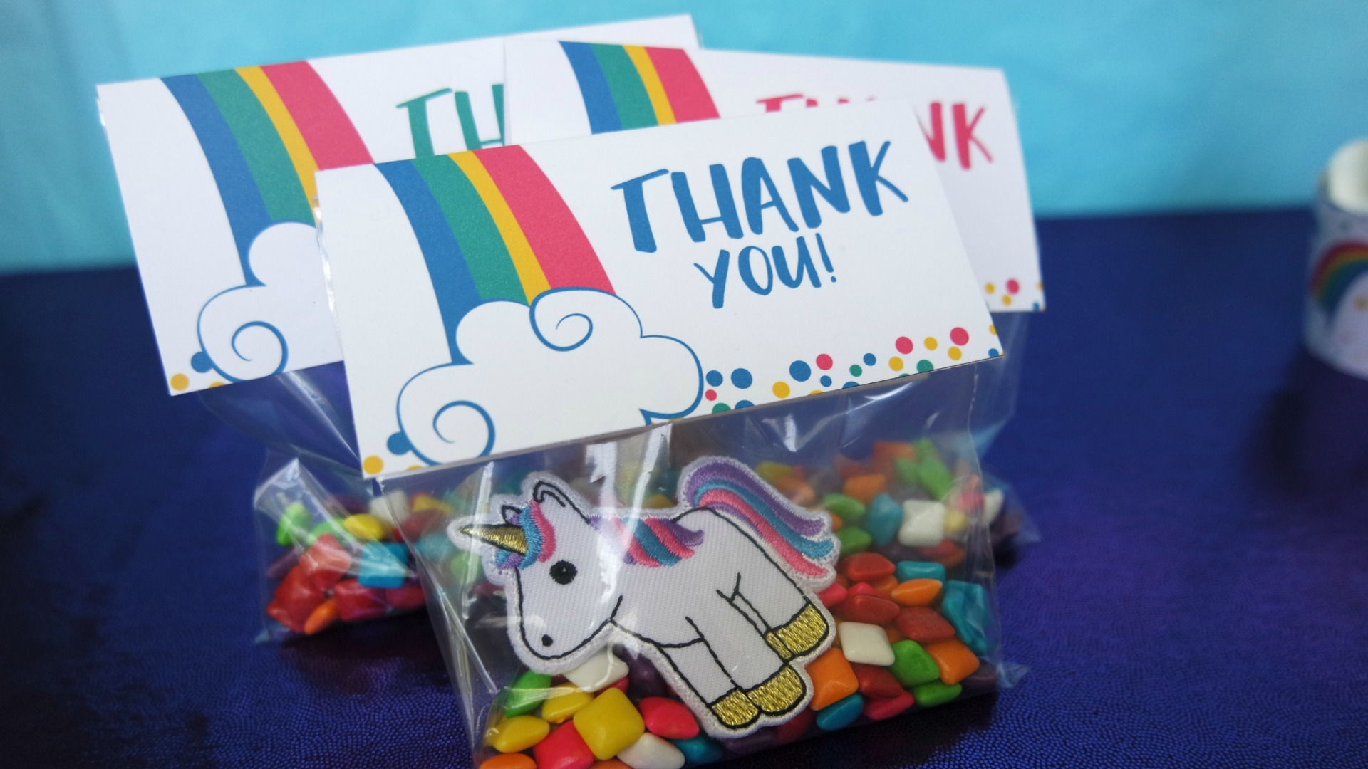 Unicorn Party Favor Download, Free Rainbow Party Favor Printable