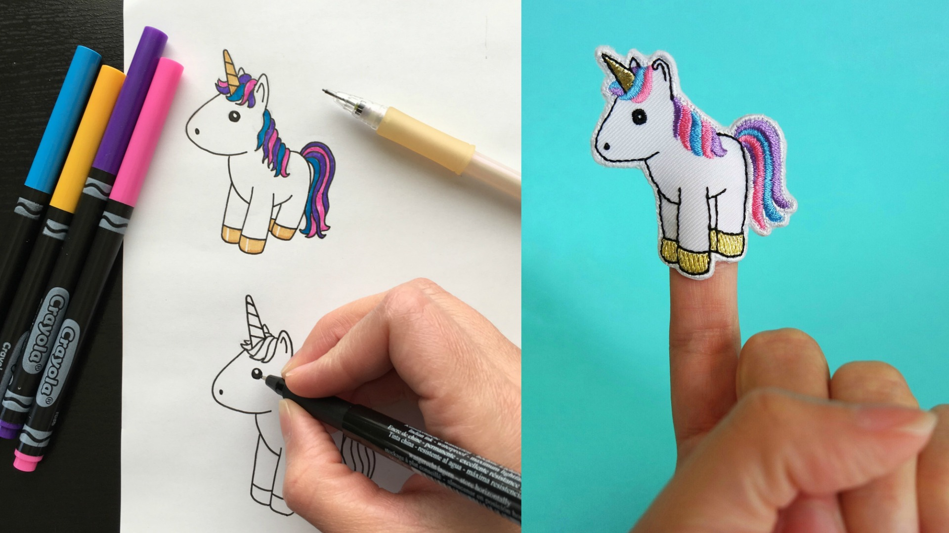 How Yippitee's unicorn finger puppets are made #unicorn #fingerpuppet #unicorntoy #unicornparty #unicornbirthday