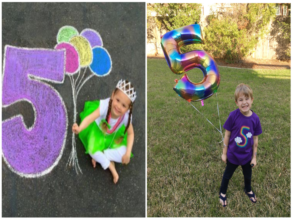 Birthday photo ideas // Stuck inside during your little one's birthday? There are plenty of clever ways to have a fun birthday without a party. Here are 9 different birthday celebration ideas at home. #birthdaygirl #birthdayboy #toddlerbirthday