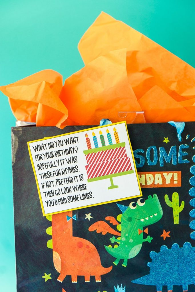 Present scavenger hunt // Stuck inside during your little one's birthday? There are plenty of clever ways to have a fun birthday without a party. Here are 9 different birthday celebration ideas at home. #birthdaygirl #birthdayboy #toddlerbirthday