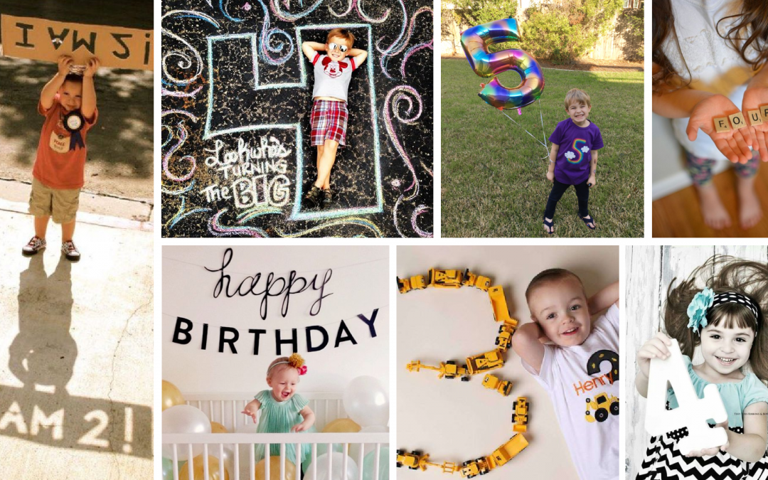 9 Adorable and Simple Ideas for a Birthday Photoshoot